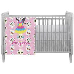 Kids Sugar Skulls Crib Comforter / Quilt (Personalized)