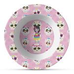 Kids Sugar Skulls Plastic Bowl - Microwave Safe - Composite Polymer (Personalized)