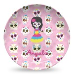Kids Sugar Skulls Microwave Safe Plastic Plate - Composite Polymer (Personalized)