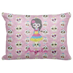 "Kids Sugar Skulls Decorative Baby Pillowcase - 16""x12"" (Personalized)"
