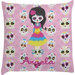 Kids Sugar Skulls Decorative Pillow Case (Personalized)