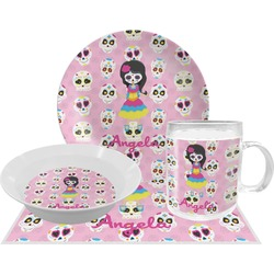 Kids Sugar Skulls Dinner Set - 4 Pc (Personalized)