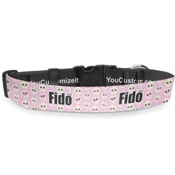 """Kids Sugar Skulls Deluxe Dog Collar - Extra Large (16"""" to 27"""") (Personalized)"""