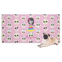 Kids Sugar Skulls Dog Towel (Personalized)