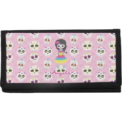 Kids Sugar Skulls Canvas Checkbook Cover (Personalized)