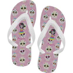 Kids Sugar Skulls Flip Flops (Personalized)