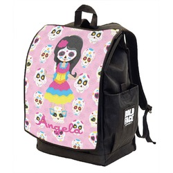 Kids Sugar Skulls Backpack w/ Front Flap  (Personalized)