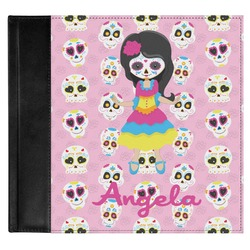 Kids Sugar Skulls Genuine Leather Baby Memory Book (Personalized)