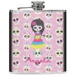 Kids Sugar Skulls Genuine Leather Flask (Personalized)