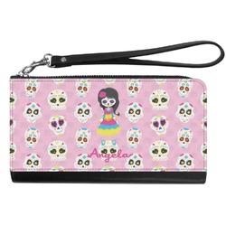 Kids Sugar Skulls Genuine Leather Smartphone Wrist Wallet (Personalized)