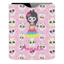 Kids Sugar Skulls Genuine Leather iPad Sleeve (Personalized)