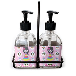 Kids Sugar Skulls Glass Soap & Lotion Bottles (Personalized)