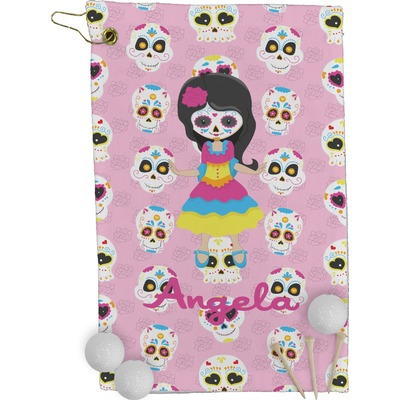 Kids Sugar Skulls Golf Towel - Full Print (Personalized)