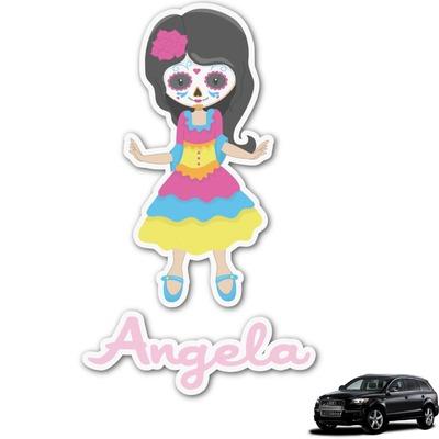 Kids Sugar Skulls Graphic Car Decal (Personalized)