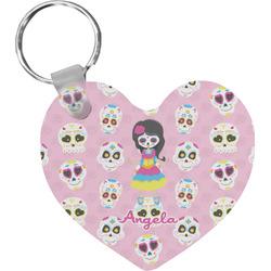 Kids Sugar Skulls Heart Keychain (Personalized)