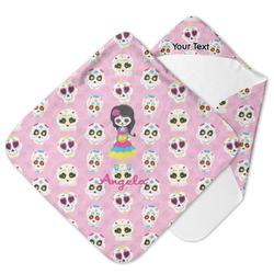 Kids Sugar Skulls Hooded Baby Towel (Personalized)