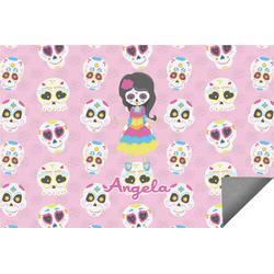 Kids Sugar Skulls Indoor / Outdoor Rug (Personalized)