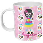 Kids Sugar Skulls Plastic Kids Mug (Personalized)