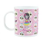 Kids Sugar Skulls Plastic Kids Mug (Personalized)