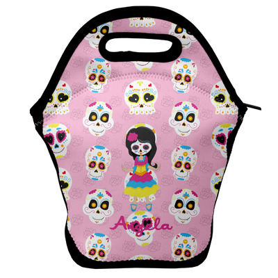 Kids Sugar Skulls Lunch Bag w/ Name or Text