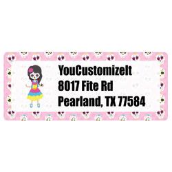 Kids Sugar Skulls Return Address Labels (Personalized)