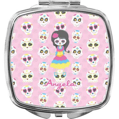 Kids Sugar Skulls Compact Makeup Mirror (Personalized)