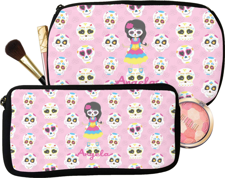 Kids Sugar Skulls Makeup Cosmetic Bag Personalized