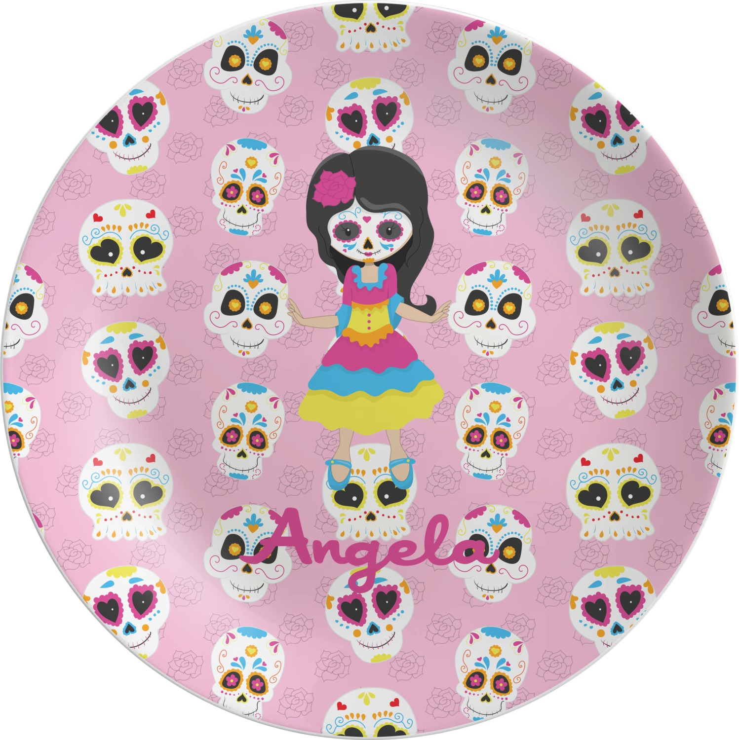 Kids Sugar Skulls Melamine Plate (Personalized)  sc 1 st  YouCustomizeIt & Kids Sugar Skulls Melamine Plate (Personalized) - YouCustomizeIt