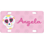 Kids Sugar Skulls Mini / Bicycle License Plate (Personalized)