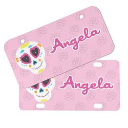 Kids Sugar Skulls Mini/Bicycle License Plates (Personalized)