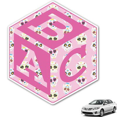 Kids Sugar Skulls Monogram Car Decal (Personalized)