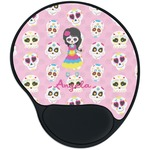 Kids Sugar Skulls Mouse Pad with Wrist Support