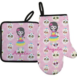 Kids Sugar Skulls Oven Mitt & Pot Holder (Personalized)