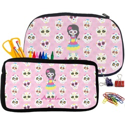Kids Sugar Skulls Pencil / School Supplies Bag (Personalized)