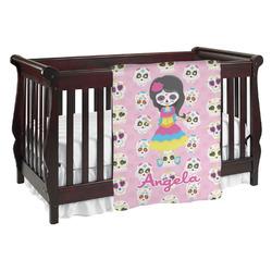 Kids Sugar Skulls Baby Blanket (Personalized)