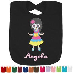 Kids Sugar Skulls Baby Bib - 14 Bib Colors (Personalized)
