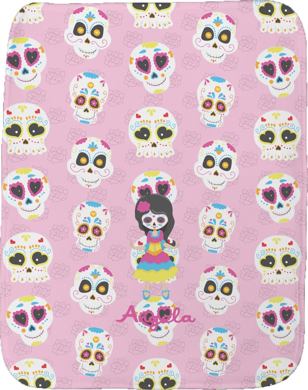 Kids Sugar Skulls Burp Cloth Personalized Youcustomizeit