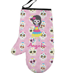 Kids Sugar Skulls Left Oven Mitt (Personalized)