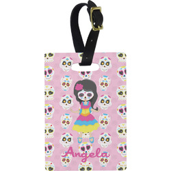 Kids Sugar Skulls Rectangular Luggage Tag (Personalized)