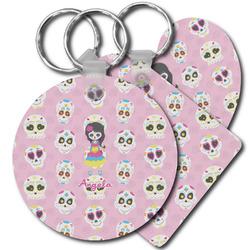 Kids Sugar Skulls Plastic Keychains (Personalized)