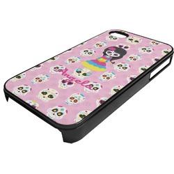 Kids Sugar Skulls Plastic 4/4S iPhone Case (Personalized)
