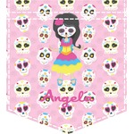 Kids Sugar Skulls Iron On Faux Pocket (Personalized)