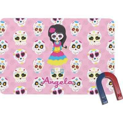 Kids Sugar Skulls Rectangular Fridge Magnet (Personalized)