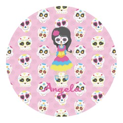 Kids Sugar Skulls Round Decal - Medium (Personalized)