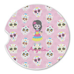 Kids Sugar Skulls Sandstone Car Coasters (Personalized)
