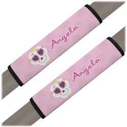 Kids Sugar Skulls Seat Belt Covers (Set of 2) (Personalized)