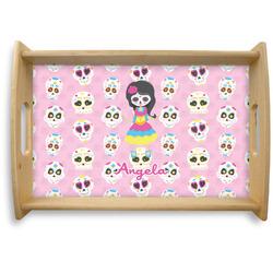 Kids Sugar Skulls Natural Wooden Tray (Personalized)