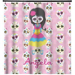 Kids Sugar Skulls Shower Curtain (Personalized)