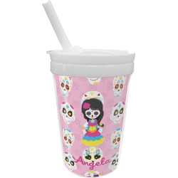 Kids Sugar Skulls Sippy Cup with Straw (Personalized)