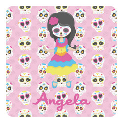 Kids Sugar Skulls Square Decal - Medium (Personalized)